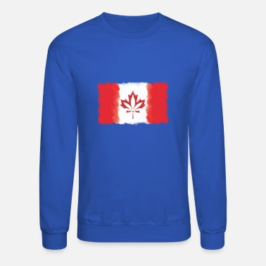 Canadian Flag - Cannabis Smoke Cloud - Crewneck Sweatshirt