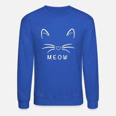 A cat sounds like meow - Crewneck Sweatshirt