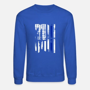 Line Thin Blue Line USA Shirt - Crewneck Sweatshirt