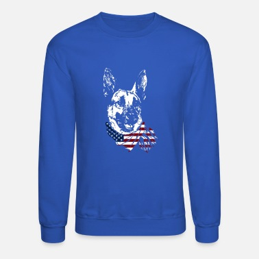 German German Shepherd USA Shirt - Unisex Crewneck Sweatshirt