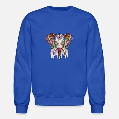 9bc579b3f85e9 Colorful Bohemian Hippie Elephant Shirts  amp  Gifts - Unisex Crewneck  Sweatshirt