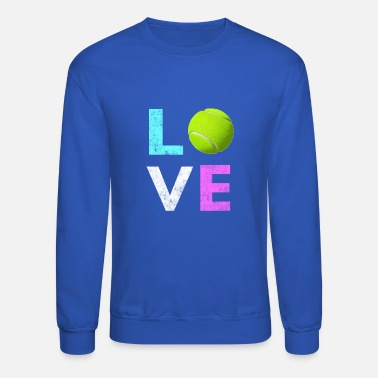 Lightweight Awesome Tennis gift for Girls & Women LOVE Tennis Love - Crewneck Sweatshirt