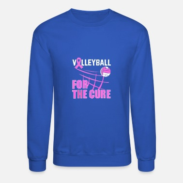 Cure Volleyball for the Cure - Unisex Crewneck Sweatshirt