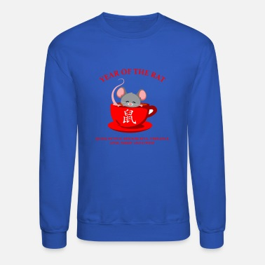 Couples Lunar Chinese Zodiac Year of the Rat gift for men - Unisex Crewneck Sweatshirt