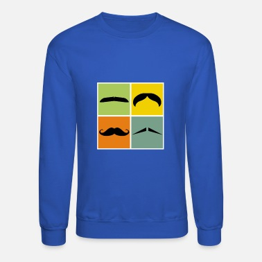 Moustache November Hipster Four moustaches gift idea November no shave - Unisex Crewneck Sweatshirt