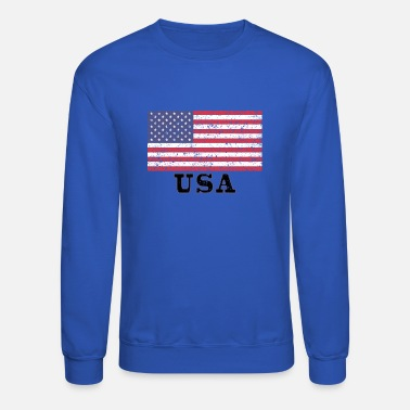 USA Flag - Unisex Crewneck Sweatshirt