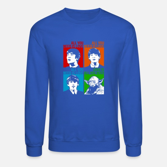 Yoda Hoodies & Sweatshirts - YODA - Unisex Crewneck Sweatshirt royal blue