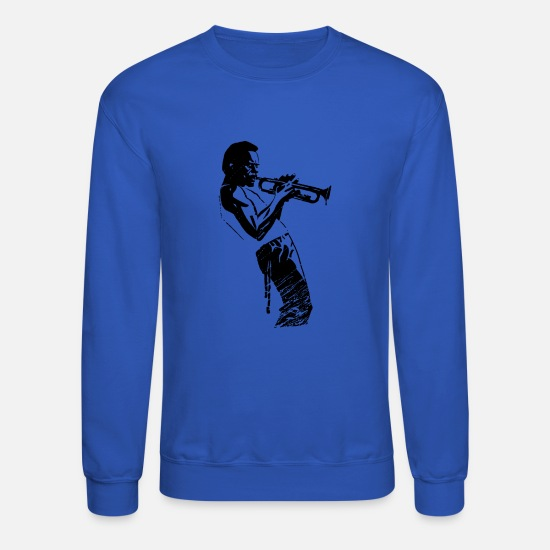 Music Hoodies & Sweatshirts - Davis Jazz - Unisex Crewneck Sweatshirt royal blue