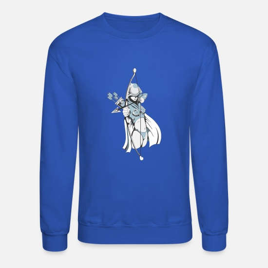 Birthday Hoodies & Sweatshirts - Female Archer - Unisex Crewneck Sweatshirt royal blue