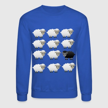 Black And White BLACK AND WHITE FLUFFY SHEEP PRINT - Crewneck Sweatshirt