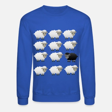 Sheep BLACK AND WHITE FLUFFY SHEEP PRINT - Unisex Crewneck Sweatshirt