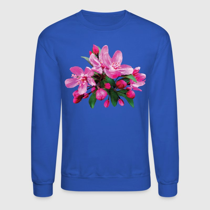 Two Cherry Blossoms And Buds - Crewneck Sweatshirt