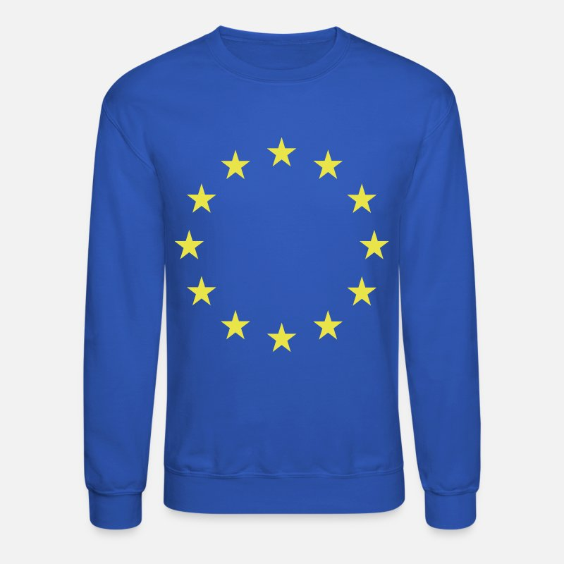 Union Hoodies & Sweatshirts - European Union Flag - Unisex Crewneck Sweatshirt royal blue