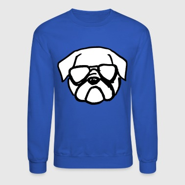 Secret Agent Pug Face - Crewneck Sweatshirt