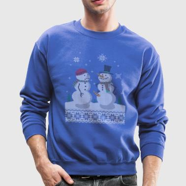 UGLY HOLIDAY SWEATER HAPPY SNOWMAN CARROT THIEF - Crewneck Sweatshirt