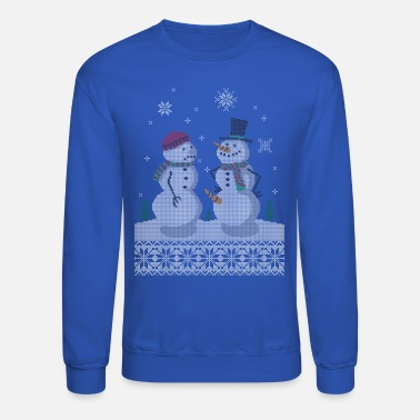 Ugly Christmas UGLY HOLIDAY SWEATER HAPPY SNOWMAN CARROT THIEF - Crewneck Sweatshirt