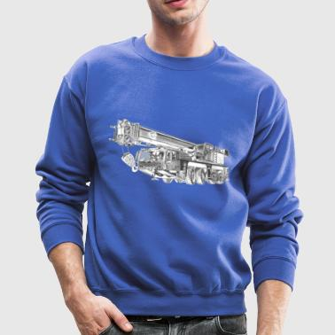 Mobile Crane 4-axle - Crewneck Sweatshirt