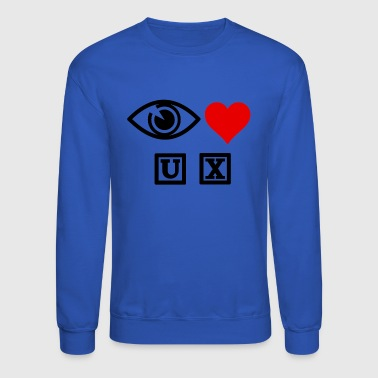 Heart Eyes Eye heart UX - Crewneck Sweatshirt