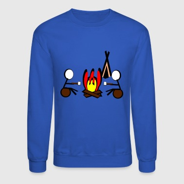camping campfires camper scouts tent teepee cookin - Crewneck Sweatshirt