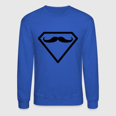 Superman moustache beard - Crewneck Sweatshirt