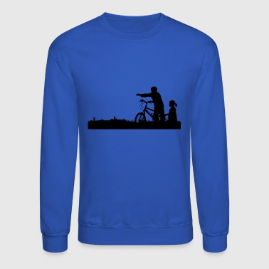 Kids with Bike - Crewneck Sweatshirt