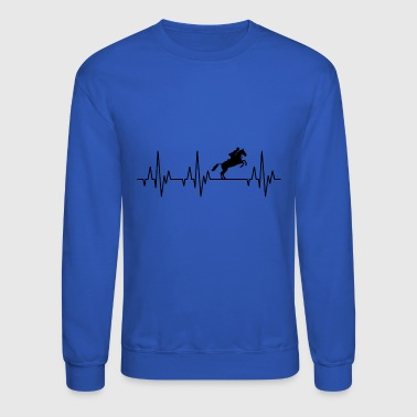 Heartbeat Horses Riding Harness Racing Equitation - Crewneck Sweatshirt