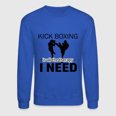Kick Boxing is my therapy - Crewneck Sweatshirt