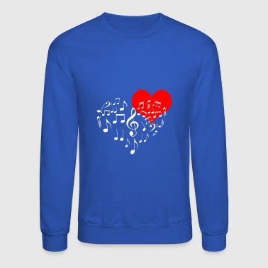 Singing Heart on black - Crewneck Sweatshirt