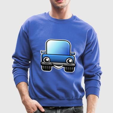 Blue Car Comic Style - Crewneck Sweatshirt