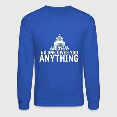 Contrary To Popular Belief - Crewneck Sweatshirt