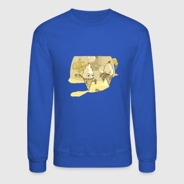 Eating ice cream in a parallel universe - Crewneck Sweatshirt