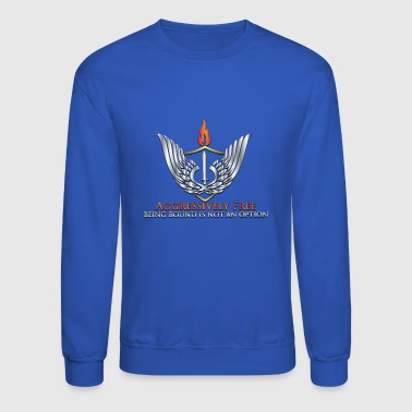 Metallic Aggressively Free Logo - Crewneck Sweatshirt