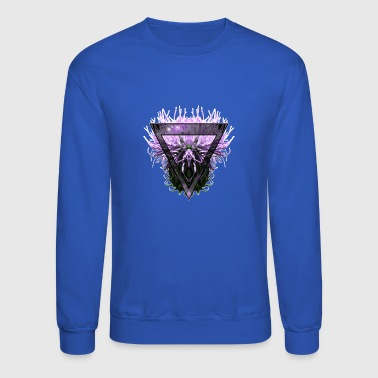 Creepy Intergalactic Triangle Thistle - Crewneck Sweatshirt