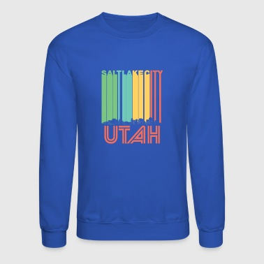Utah Retro Salt Lake City Utah Skyline - Crewneck Sweatshirt