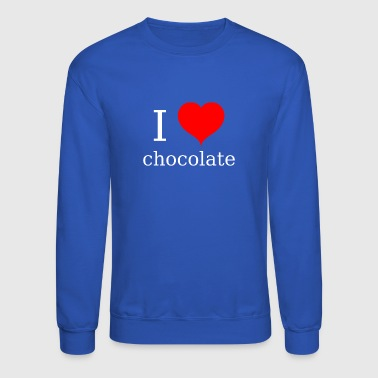 i love chocolate - Crewneck Sweatshirt