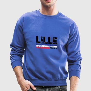 Lille France Flag Tricolor French Distressed Cool - Crewneck Sweatshirt