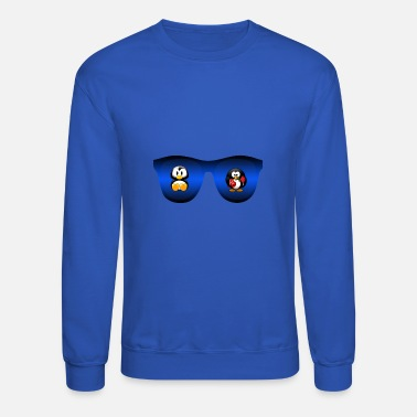 Cartoon cute glasses and cartoon - Crewneck Sweatshirt