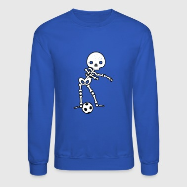 Skeleton Soccer Halloween Shirt Flossing Dance - Crewneck Sweatshirt