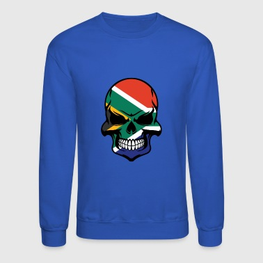 South African Flag Skull Cool South Africa Skull - Crewneck Sweatshirt
