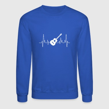 Acoustic Guitar Heartbeat Shirt - Crewneck Sweatshirt
