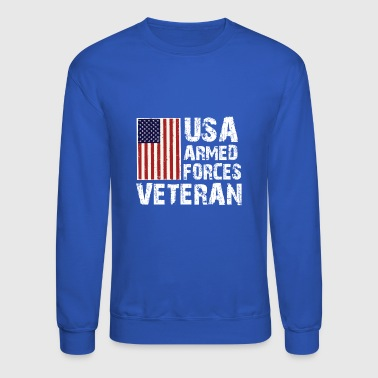 USA Armed Forces Veteran T-Shirt - Crewneck Sweatshirt