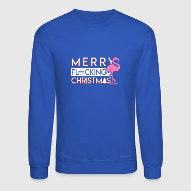 Merry Flock Christmas Flamingo Christmas - Crewneck Sweatshirt