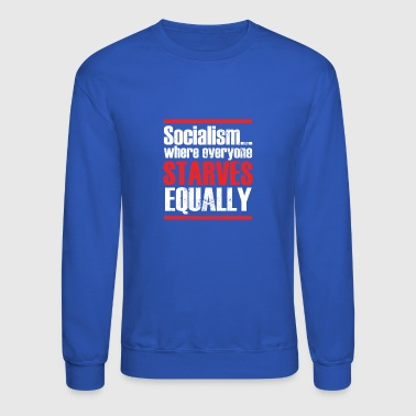 Capitalism Anti Socialism Statement - Crewneck Sweatshirt