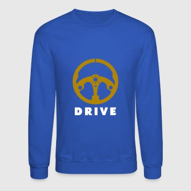 Steering Wheel Motor Car Race - Crewneck Sweatshirt