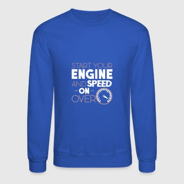 car vehicle motor race speed - Crewneck Sweatshirt