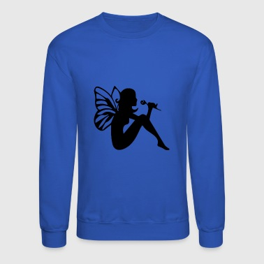 Fairy with flower - Crewneck Sweatshirt