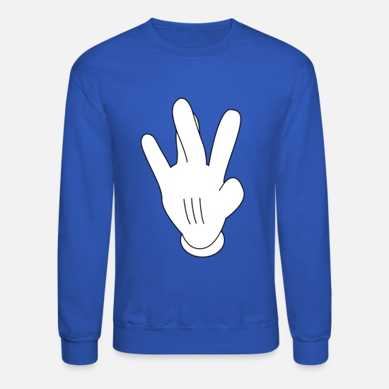 Westside Hoodies & Sweatshirts - westside mickeymouse hand - Unisex Crewneck Sweatshirt royal blue
