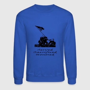Marines Served Sacrificed Honored - Crewneck Sweatshirt