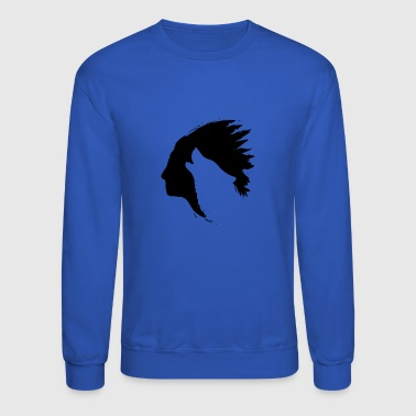 Indian Howling Wolf Silhouettes - Crewneck Sweatshirt
