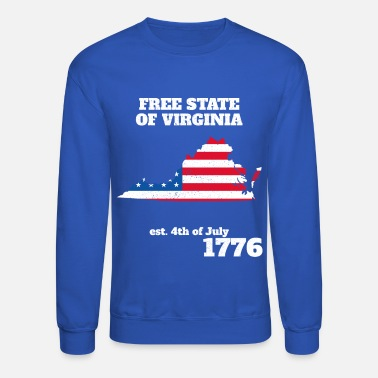 4th of July Independence Day Virginia - Crewneck Sweatshirt